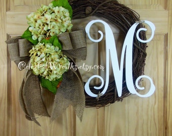 spring wreath -  easter  wreath -  wreath - summer wreath - personalized wreath - mothers day