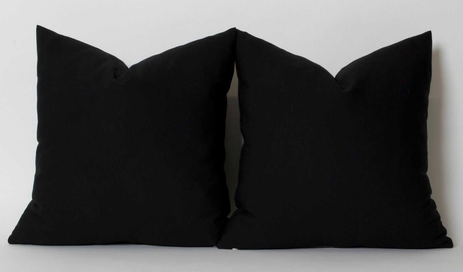 Plain Black Throw Pillow : Solid Black Pillow Cover ANY SIZE Black Couch Pillow Covers