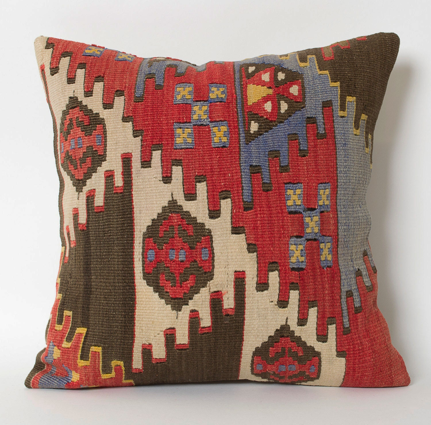 Vintage Kilim Pillow Cover Hand Woven Tribal Decorative