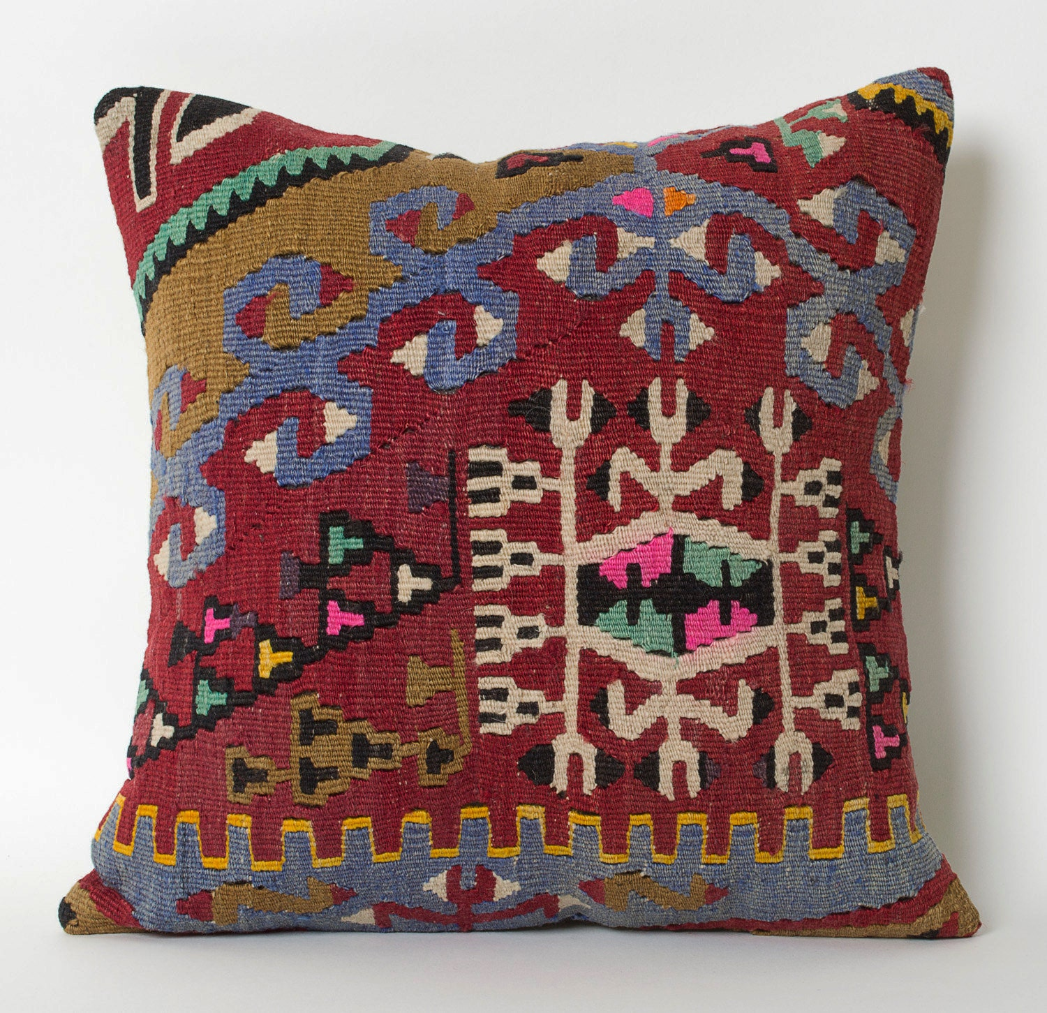 Persian Rug Pillow Cushion Cover Kilim Pillow Case Boho Pillow