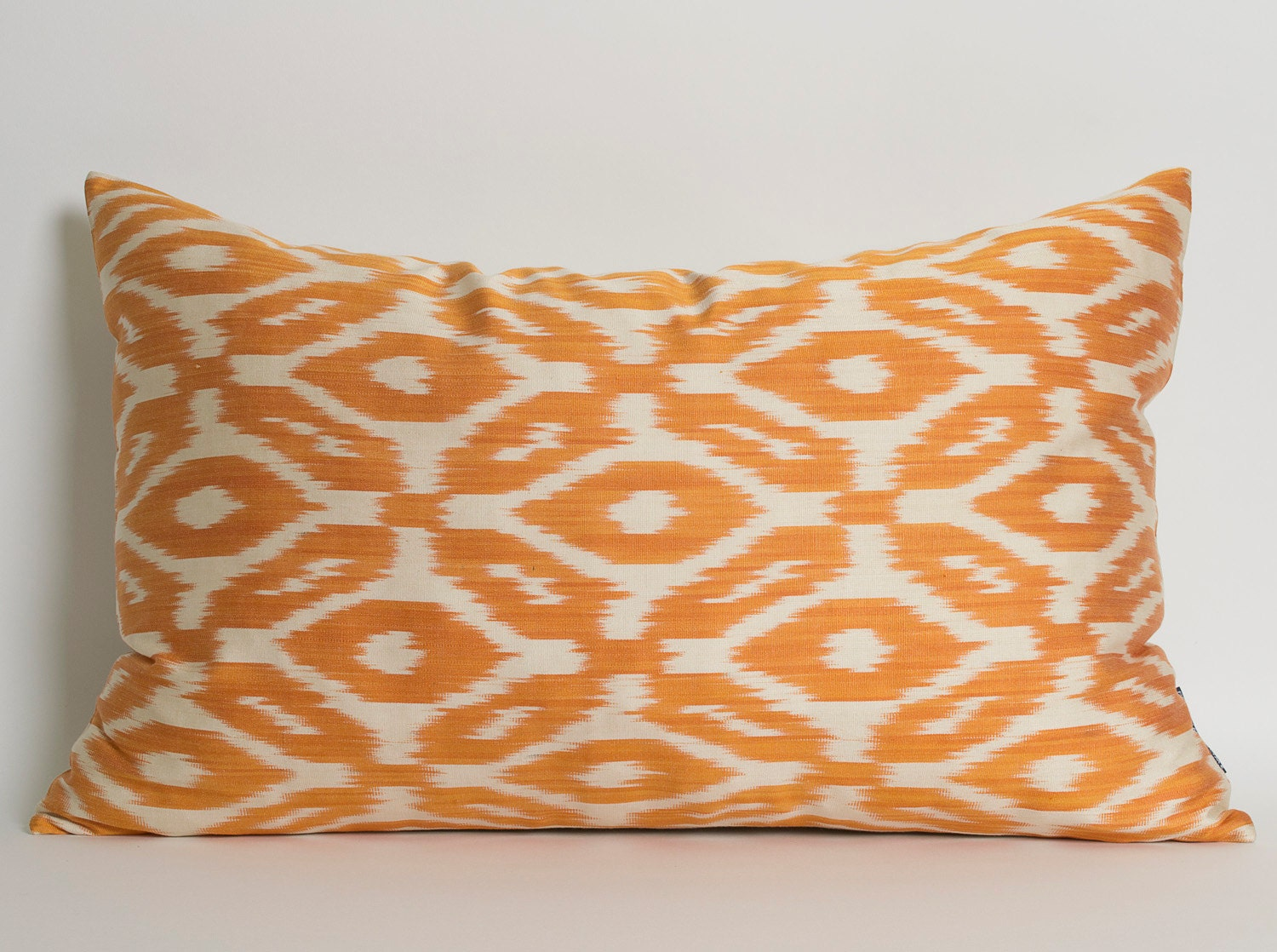 Orange Decorative Pillows Couch : Orange Ikat Pillow Cover Decorative Throw Pillows Orange