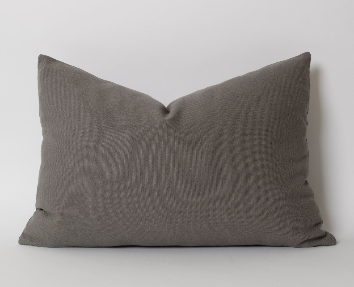 Gray Pillows Decorative Throw Pillow 12x18 Inch Dark Gray