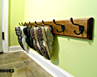 Shoe Rack, Entrance Shoe Holder, Footwear Organizer, Hat Rack, Back Door Hat Holder, Headwear Organizer, Wooden Multipurpose Rack, 2 Sizes