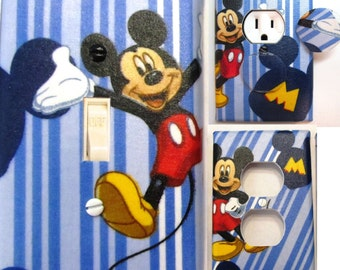 Mickey Mouse Light Switch and Outlet Covers