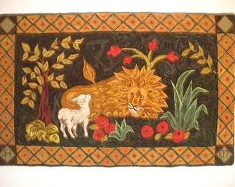Lion Rug Pattern Etsy