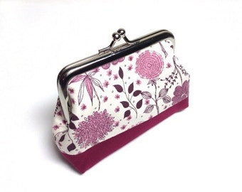 Pink floral coin purse