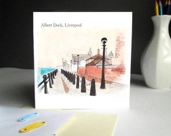 Albert Dock, Liverpool Greetings Card