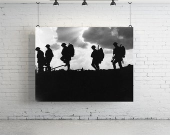 """24"""" x 18"""" - Vintage Photography, Large Print of Battle Of Broodseinde"""