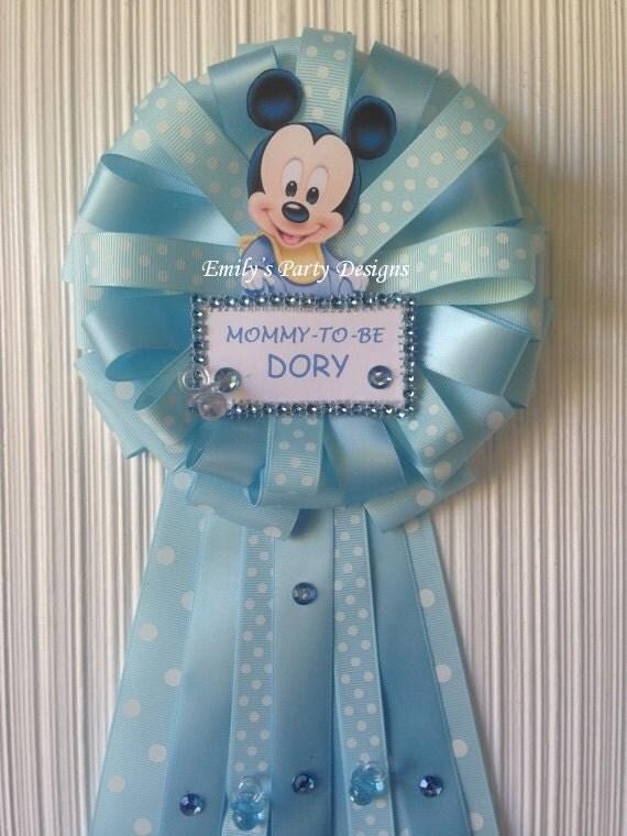 Baby Shower Corsage Para Mamá Mickey por designsbyemilys en Etsy