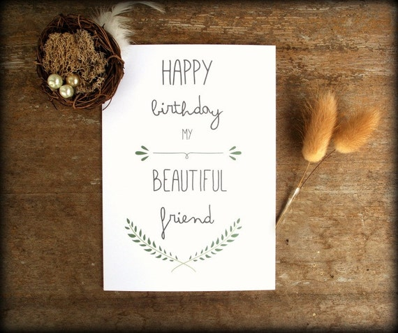 Items similar to Printable Best Friend Birthday card Friend – Printable Best Friend Birthday Cards