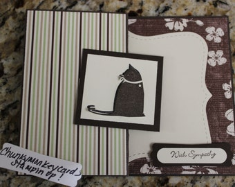 Stampin Up Cat With Sympathy