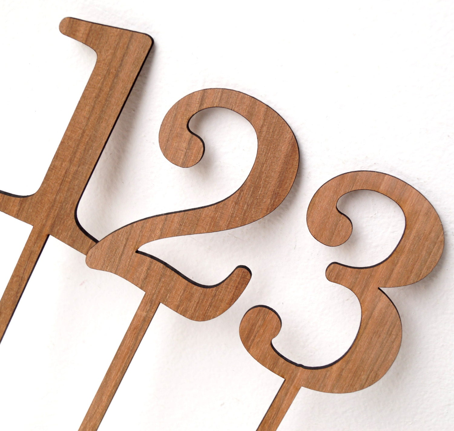 Wedding table number wooden numbers rustic