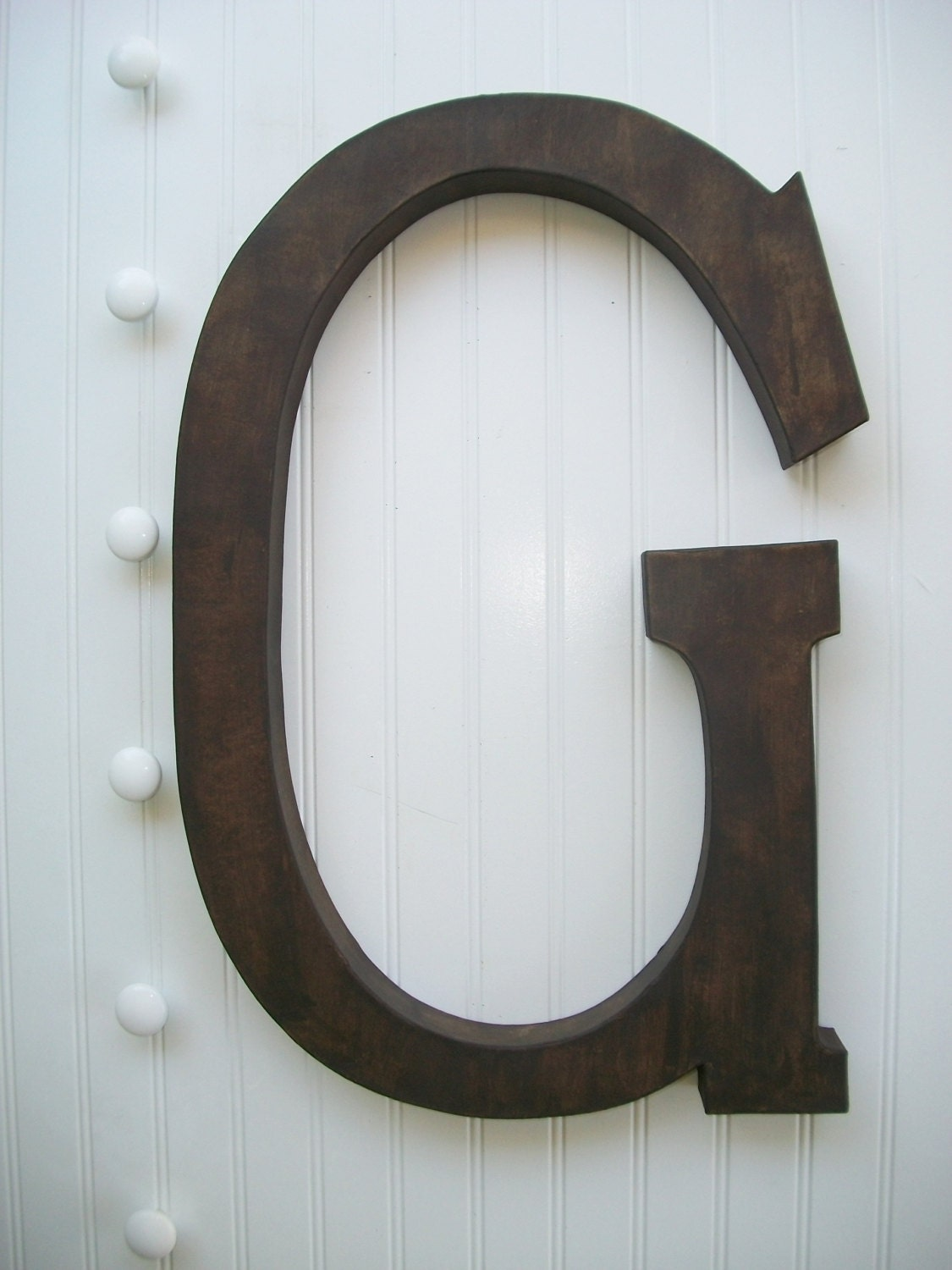 painted letter wall decor large wall letters rustic. Black Bedroom Furniture Sets. Home Design Ideas