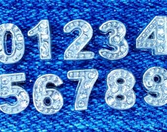0-9 Numeric Floating Locket Charm- You Choose Number