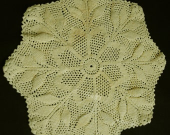 Vintage Yellow Doily