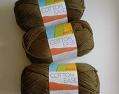 Lion Brand CottonEase Hazelnut - DESTASHING SALE