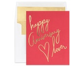 Gold Foil Card | Anniversary Card | Happy Anniversary Lover