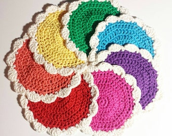 CROCHET PATTERN - Small Flower Coaster