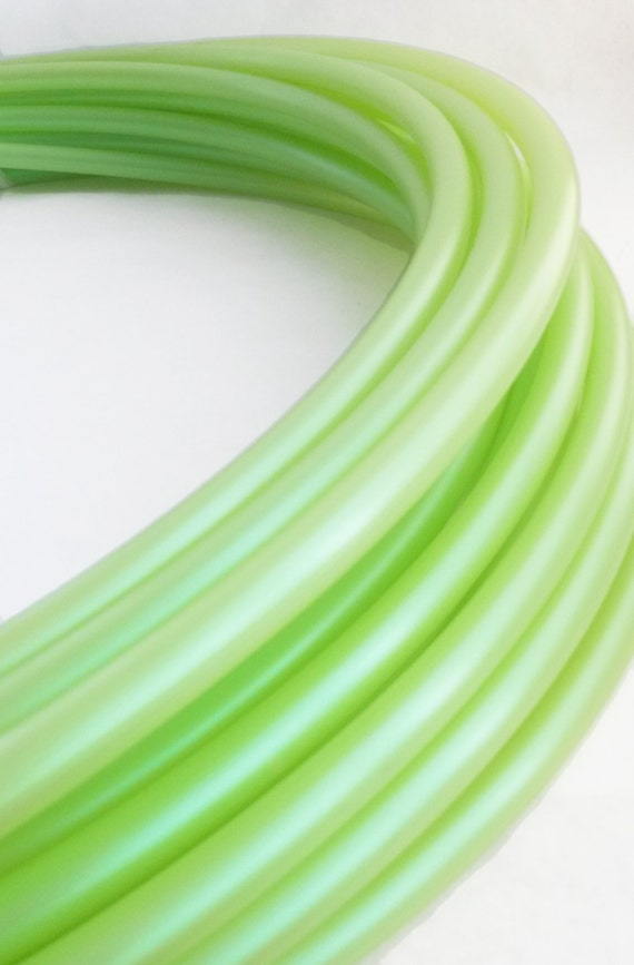 "SALE 5/8"" HDPE Hula Hoop Dragonfly Green// Customizable// Light Weight//Trick Hoop//Dance Hoop"