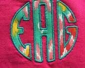 Short-Sleeve Applique Monogrammed T-Shirt