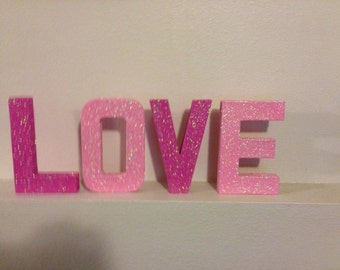 Love 8inch tall letters