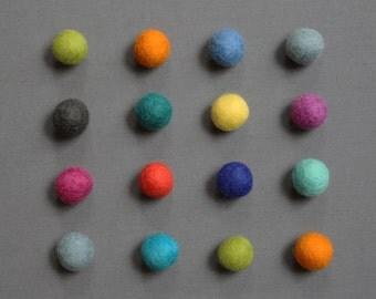 Felt Ball Magnets // Pack of 16
