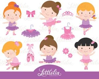 Ballerina clipart - Ballet dancer clipart - Cute ballerina - 15005
