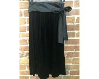 Vintage Velvet Bow Skirt