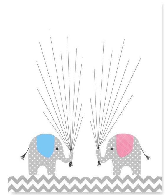 Zwilling Baby Dusche Gästebuch Fingerabdruck Alternative