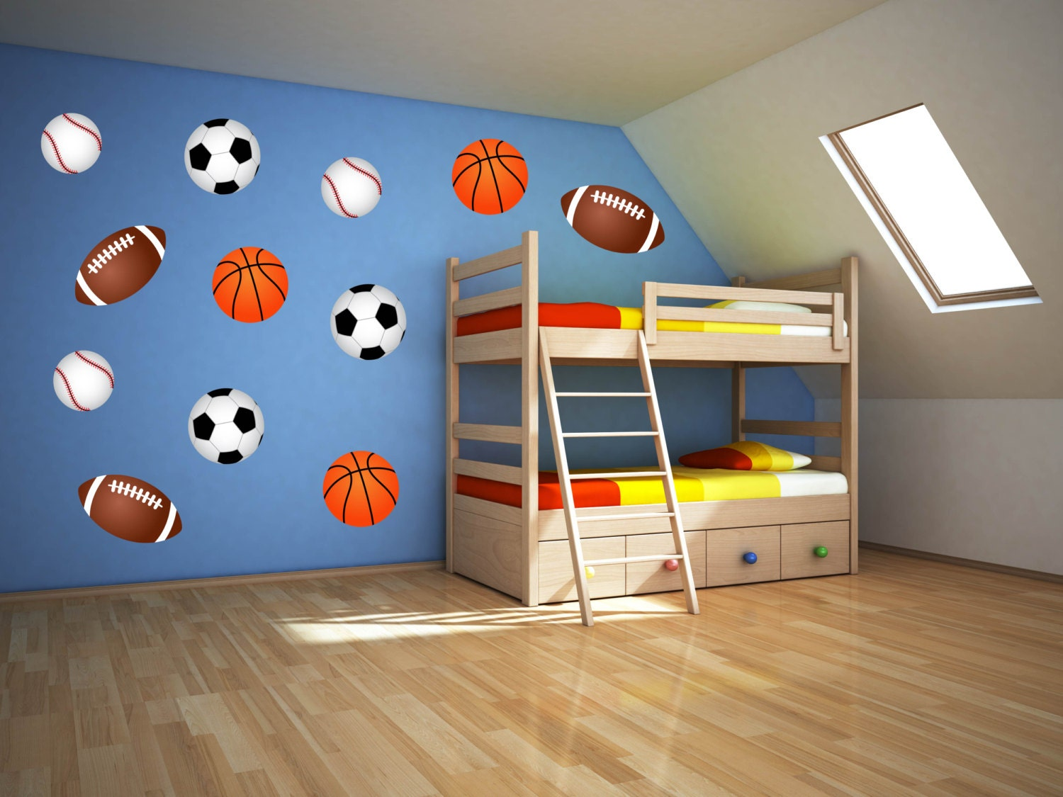 Sport wall art boys room wall decals sports wall decals Boys wall decor