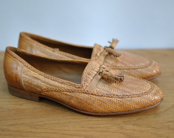 Vintage BALLY MADRID mens leather shoes ....(024)