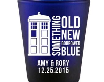 144 Customized Doctor Who Tardis Wedding Shot Glasses