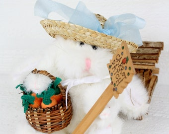Plush Easter Bunny Decor