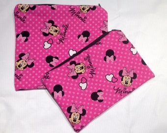 Minnie Mouse Reusable, washable zippered sandwich and snack bag set