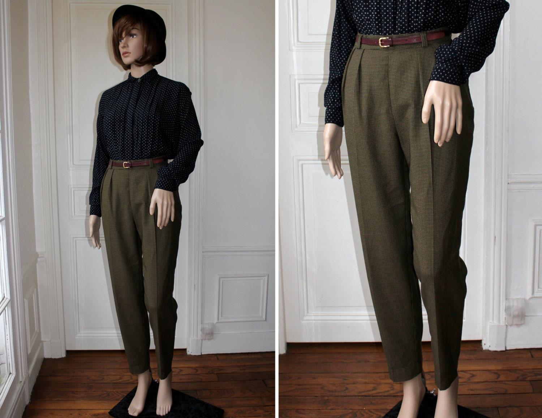 Reserv aida pantalon cigarette pied de poule taille haute for Miroir tumblr