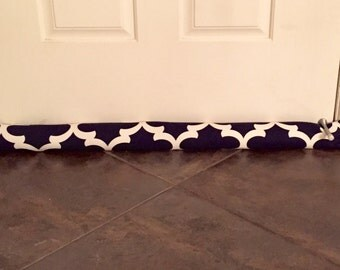 Draft Stopper - Navy Door Draft Stopper - Window or Door Snake - Breeze Blocker