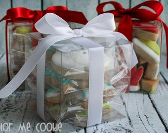 3 x 3 x 3 CLEAR PLASTIC Cube BOXES ~ Cookie Boxes