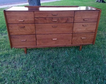 Extremely rare Conant Ball mid century vintage 10 drawer dresser