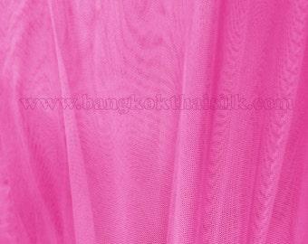 "Pink Power Net Mesh 4-Way Stretch Fabric 60""W BTY"