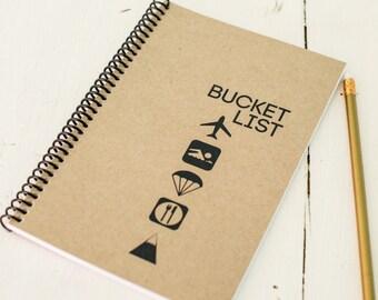 Notebook, Bucket List,  Journal, Gift, Planner, Diary, Inspirational