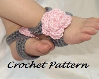 Crochet Pattern - Barefoot Sandals - Baby - Toddler - PDF file - Digital download - instant download - tutorial - DIY foot accessory