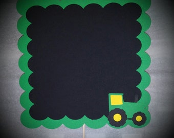 A Tractor Chalkboard sign centerpiece