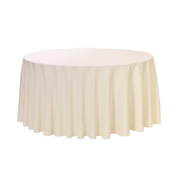 108 inch round polyester tablecloth ivory wedding for 108 round table cloth