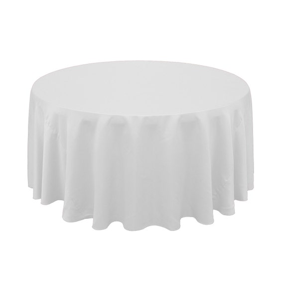 120 inch round lamour tablecloth white wedding by for 120 inch round table cloths