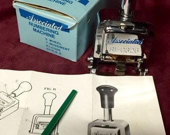 Vintage Numbering Machine - Associated