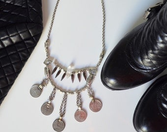 Coins Necklace | Statement Jewelry