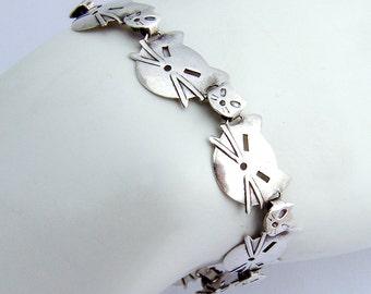 Cats Bracelet Sterling SIlver