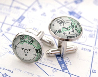 Airplane Cufflinks Holiday Gifts for Pilot Flight Chart Pilot Cuff Links Gifts High Altitude Personalized Air Force Aviation Cufflinks