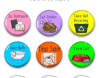 Chore Magnets - Kids Chore Chart Magnets - Chore Magnet - Chore Chart Magnet - Chore Chart Magnets