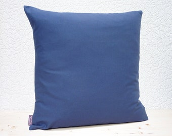 "Handmade 16""x16"" Cotton Home Decor Cushion Accent Pillow Cover in Plain Windsor Blue"